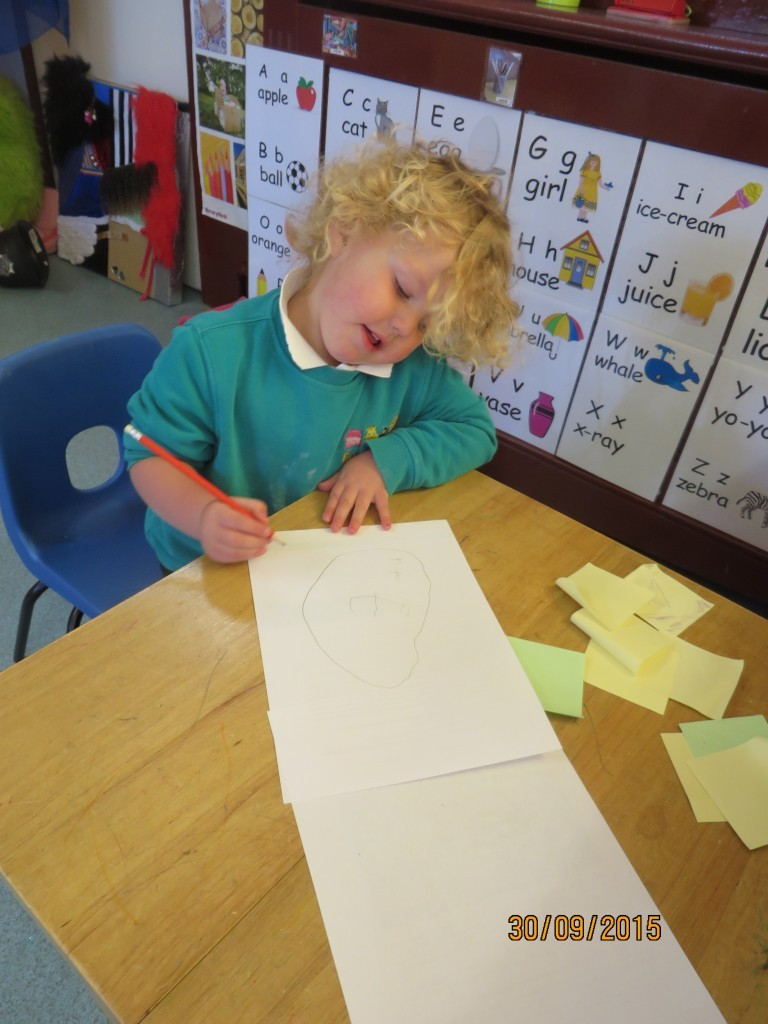 In the writing corner fun box day nursery our writing corner invites children to make their own letters and drawings with various mark making tools and papers early years foundation stage stopboris Choice Image