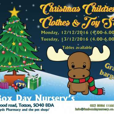 Christmas Toy and Clothes Sale